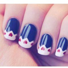Lovely heart nails