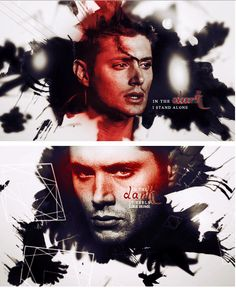[GIFSET]- by addictcastiel for The Dean Winchester Graphic Challenge. Prompt: Dark