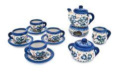 Blue Rose Polish Pottery: Bluebell Miniature Tea Set