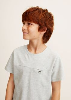 Polo style cotton t-shirt - Boys | Mango Kids United Kingdom