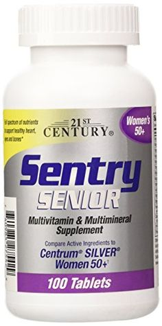 21st Century Sentry Senior Women 50 Plus Tablets 100 Count *** Visit the image link more details.  This link participates in Amazon Service LLC Associates Program, a program designed to let participant earn advertising fees by advertising and linking to Amazon.com.