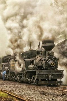 Cass Scenic Railroad, West Virginia by Locomotive Diesel, Steam Locomotive, Motor A Vapor, Old Trains, Vintage Trains, Old Steam Train, Tramway, Railroad Pictures, Bonde