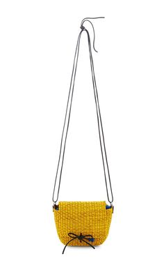 Fille Straw Crossbody Bag by Muun Now Available on Moda Operandi