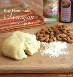 A fool-proof recipe for quick and easy homemade marzipan (almond paste).  http://en.wikipedia.org/wiki/Marzipan