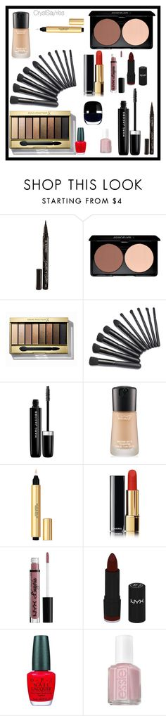 """""""Relooking DemiJournée Beauté """"Wishlist Make Up"""""""" by crystelpi on Polyvore featuring beauté, Smith & Cult, Max Factor, Marc Jacobs, MAC Cosmetics, Yves Saint Laurent, NYX, OPI et Essie"""