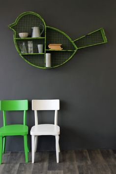Giant Green Bird Shelf