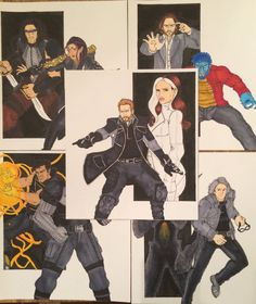 X-men: Days of Future Past Character Prints 2  by Num1XMNART on Etsy