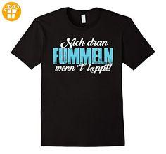 Lustige Plattdeutsche Sprueche T-Shirts: Nich' dran fummeln Herren, Größe M Schwarz - Shirts mit spruch (*Partner-Link)