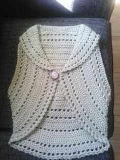 crochet circle vest patterns free women | Free Crochet Circle Shrug Pattern