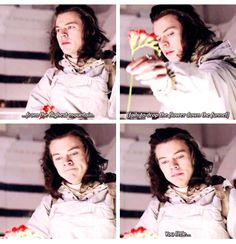 "*flower get stuck* ""You.... Little..."" finish that harry finish that puhleaseee between us fragrance behind the scene"