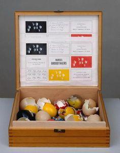 Marcel Broodthaers, I Return to Matter, I Rediscover the Tradition of the Primitives, Painting with Egg, Painting with Egg (Je retourne à la matière, je retrouve la tradition des primitifs, peinture à l'oeuf, peinture à l'oeuf) on ArtStack #marcel-broodthaers #art