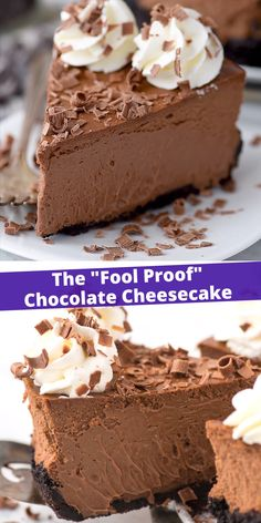 This is a classic chocolate cheesecake recipe that you'll use over and over! The cheesecake batter has 5 ingredients and turns out to be so creamy and chocolate-y! Plus, you can do an oreo crust or graham cracker crust for this chocolate cheesecake. Chocolate Cheesecake Recipes, Best Cheesecake, Easy Cheesecake Recipes, Chocolate Chip Recipes, Cake Mix Recipes, Chocolate Desserts, Dessert Recipes, Quick Dessert, Chocolate Chocolate