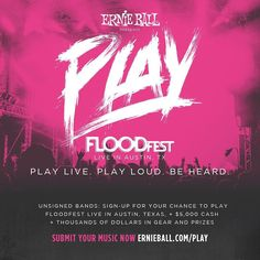Had the honor of helping @ernieball brand their new PLAY campaign launching today helping indie-bands get heard at major festivals. Such great people and work involved in this project. Glad I got to play a part.  #branding #music #ernieball #floodfest #graphicdesign by equalsevenco