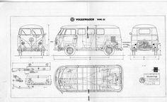 VW T1 Bus Type 23 (1960)   SMCars.Net - Car Blueprints Forum
