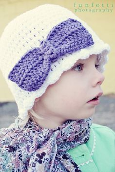 Crochet Bow Beanie PDF Pattern newbornadult by Curtsay on Etsy, $3.99
