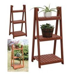 Plant Stand Wooden 3 Tier Flower Planters Patio Decor Garden Pots Wood Pot Yard  #Unbranded