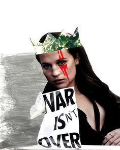War Isn't Over | collage by Victoria Munro shop coming soon! #art #collage #feminism #war #fight #outsiders #collageart
