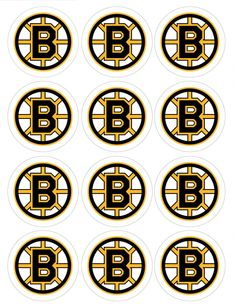 """Single Source Party Supply - 2.5"""" Boston Bruins Cupcake Edible Icing Image Toppers"""