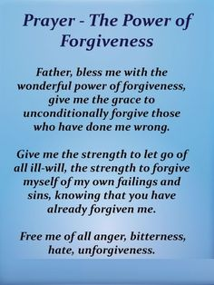 Prayer - The Power of Forgiveness