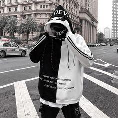Mar 2020 - Men's Hoodie Letter Embroidery Thick Warm Hip Hop Streetwear – omymarts Streetwear Men, Streetwear Fashion, Hoodie Sweatshirts, Hoody, Mode Outfits, Fashion Outfits, Hip Hop Outfits, Looks Pinterest, Trendy Hoodies