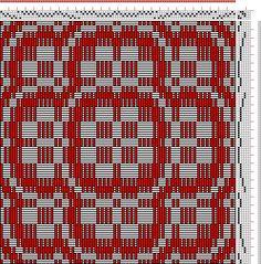 Hand Weaving Draft: flora, my own original pattern, 4S, 6T - Handweaving.net Hand Weaving and Draft Archive