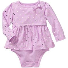 Free 2-day shipping on qualified orders over $35. Buy Garanimals Newborn Baby Girl Long Sleeve Babydoll Foil Bodysuit at Walmart.com
