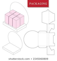 Find Packaging Design Product Set Display Product stock images in HD and millions of other royalty-free stock photos, illustrations and vectors in the Shutterstock collection. Box Packaging Templates, Gift Box Packaging, Packaging Design, Cajas Silhouette Cameo, Diy Gift Box, Display Boxes, Box Design, Paper Crafts, Illustrations