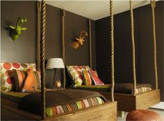 very cool hanging beds