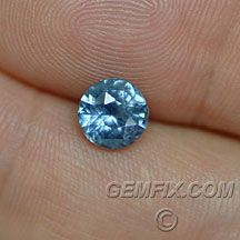 Blue eyes... Montana sapphire, American cut Gemfix San Diego CA