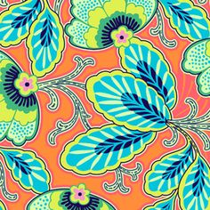 Amy Butler-Lark. I love orange and turquoise - this would be great for an entry or bathroom.