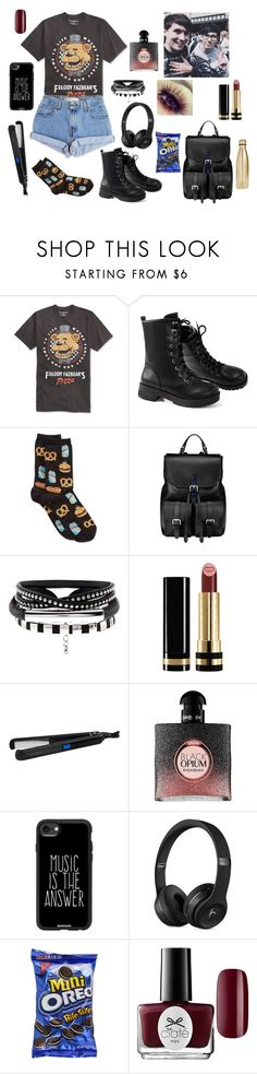 """""""E3 Day With Dan & Phil! ~ The Boy With The Cat Whiskers"""" by gravityfallsgirl33 ❤ liked on Polyvore featuring Bioworld, Levi's, HOT SOX, Aspinal of London, Gucci, Theorie, Yves Saint Laurent, Casetify, Ciaté and S'well"""