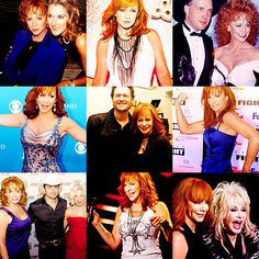 Reba McEntire- Queen of Country with other singers.