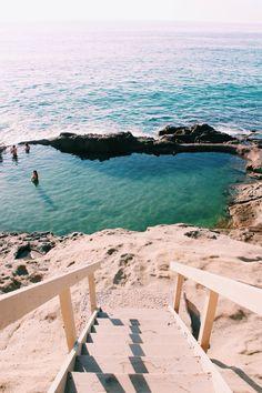 stairs leading down to the beach in laguna beach california Places To Travel, Places To See, Travel Destinations, The Beach, Beach Pool, Sunset Beach, Beach Bum, Ocean Beach, Sequoia National Park