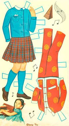GINNY TIU 1962 from from Whitman  The Ginny Tiu paper dolls are from Whitman from 1962.  Ginny Tiu was a child actress and singer.  She was incredibly gifted musically.  She is known for being in an Elvis Presley movie called Girls, Girls, Girls and as a child was on many variety shows such as Ed Sullivan and a commercial for Kellogg's Corn Flakes.  She was one of three very talented sisters. 2 of 10