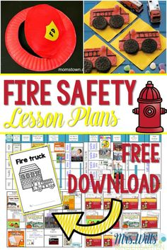 Fire Safety Week Free Emergent Reader that is perfect for kindergarten. Arts, crafts, snacks, math and reading lessons included!