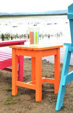 adirondack stool or end table to go with Gpa & Gma Mac's Adirondack chairs