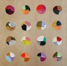 Color swatch palettes paint on paper