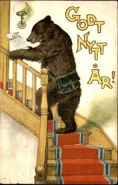 Köp & sälj begagnat & second hand online Vintage Teddy Bears, My Teddy Bear, Vintage Cards, Vintage Images, Old Children's Books, Most Popular Artists, Second Hand Online, Christmas Graphics, Bear Art