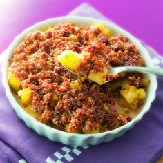 Crumble d'ananas au spéculoos Recette | Weight Watchers