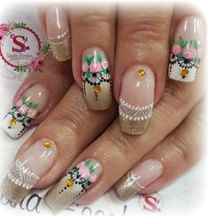 Nails, Beauty, Work Nails, Short Nails, Nail Designs, Nail Manicure, Fingernail Designs, Drawings, Finger Nails