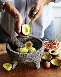 Mortar & Pestles and Molcajetes How To Make Guacamole, Guacamole Recipe, Fresh Guacamole, Homemade Guacamole, Mortar And Pestle, Kitchen Essentials, Ground Beef Recipes, Kitchen Items, Tortilla Wraps