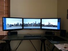 Would love to put my monitors on the wall like this