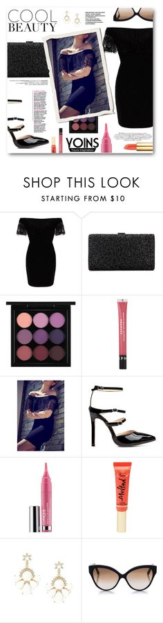 """""""Cool Beauty"""" by tasnime-ben ❤ liked on Polyvore featuring MAC Cosmetics, Sephora Collection, Clinique, Too Faced Cosmetics, Cutler and Gross, Tory Burch and yoins"""