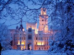 Hluboká Castle, Czech Republic. Been here. <3 @Isha Quigley played on a piano older than the United States in here.