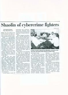 Shaolin of Cyber Crime Fighters - www.AsianLaws.org