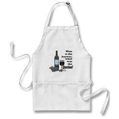 Humorous Wine saying apron!