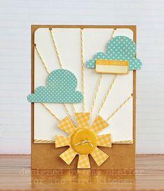 Hello sunshine by Amy Sheffer for Card Kitchen Kit Club; July 2013 Card Kitchen kit