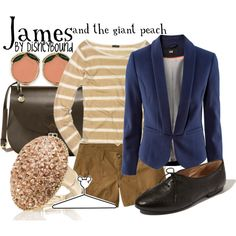 James and the giant peach, created by lalakay on Polyvore