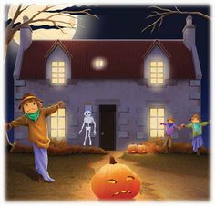 on halloween you will find many haunted houses and ugly costumes created to scare children - True Meaning Of Halloween Christian