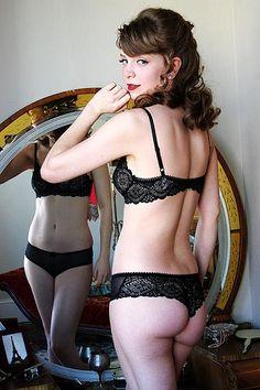 11ac085f19 On DollhouseBettie.com  Dollhouse Bettie Lotus Blossom Black Mesh Tanga  Underwear